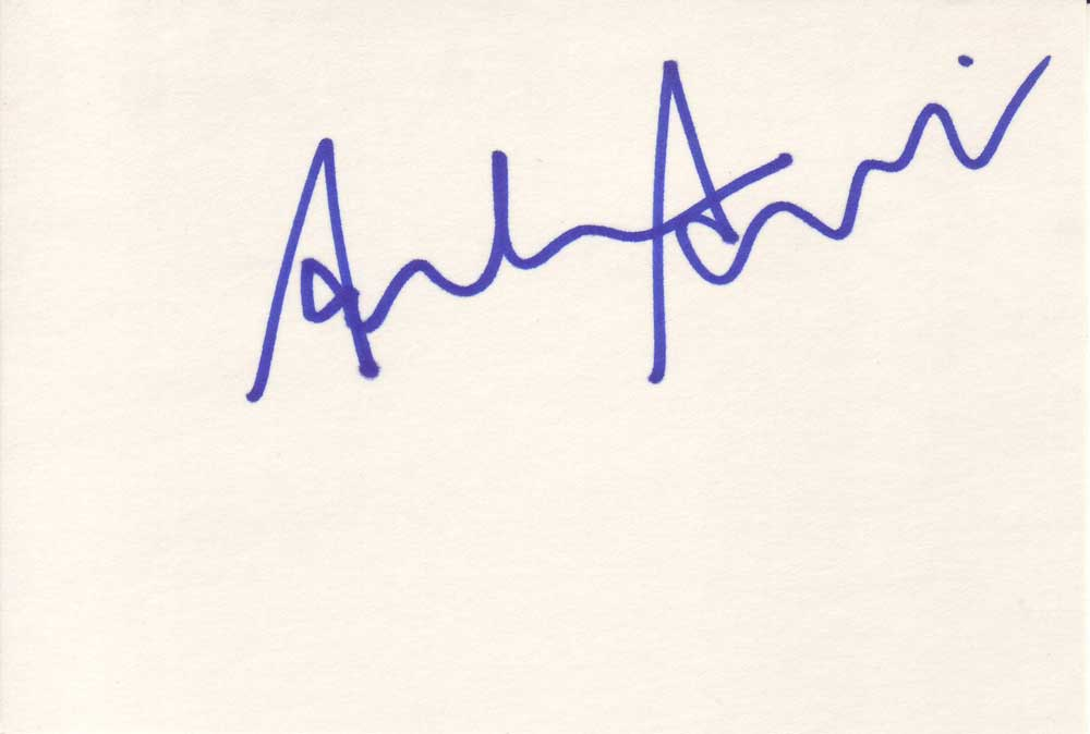 Adam Arkin Autographed Index Card