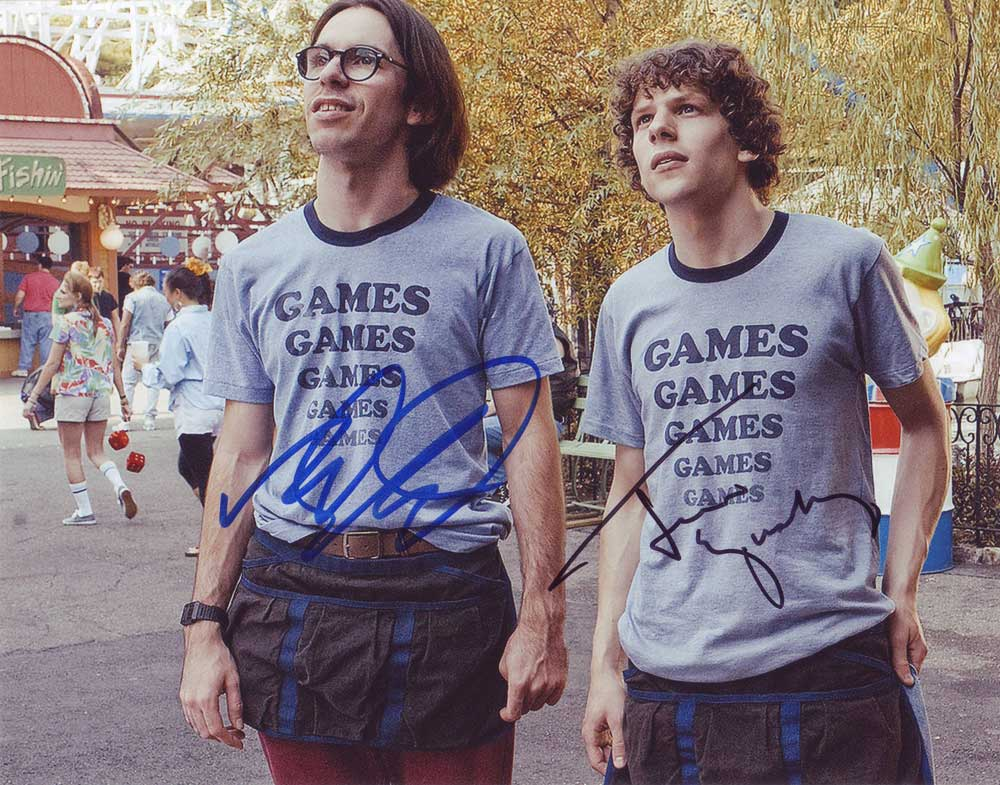 Adventureland In-person autographed Cast Photo