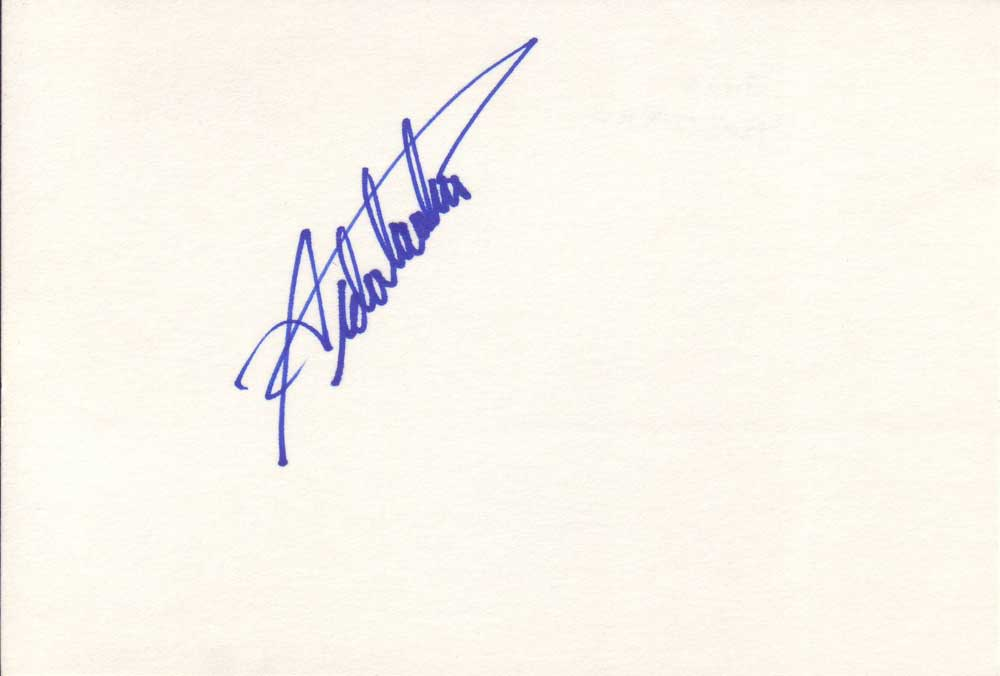Aida Turturro Autographed Index Card