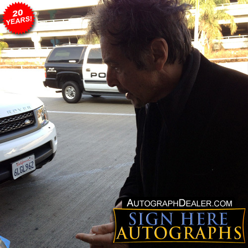 Al Pacino in-person autographed photo