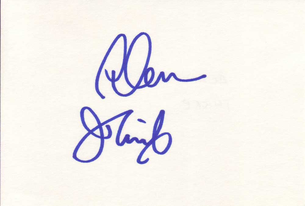 Alan Thicke Autographed Index Card