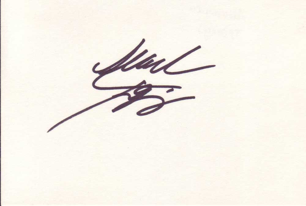 Alexandra Tydings autographed index card