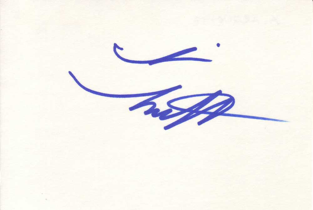 Alexis Arquette Autographed Index Card