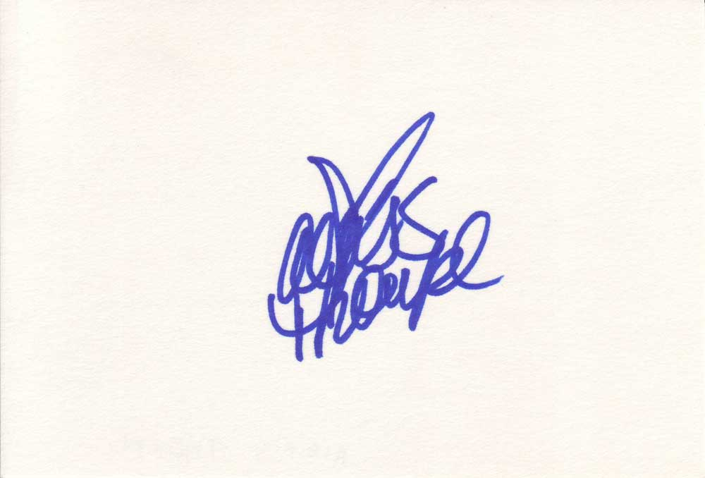 Alexis Thorpe Autographed Index Card
