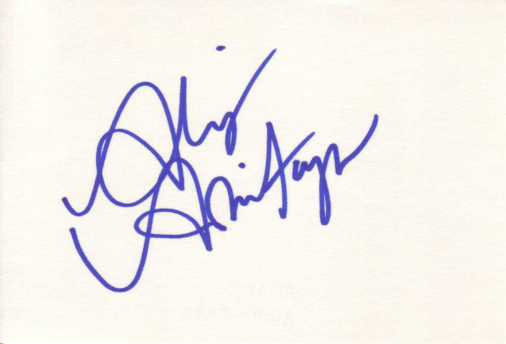 Alison Armitage Autographed Index Card