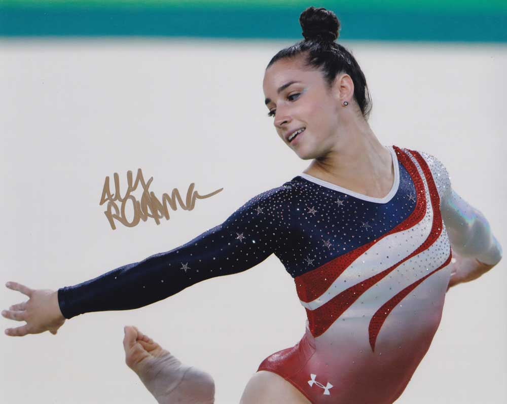 Aly Raisman in-person autographed photo Team USA