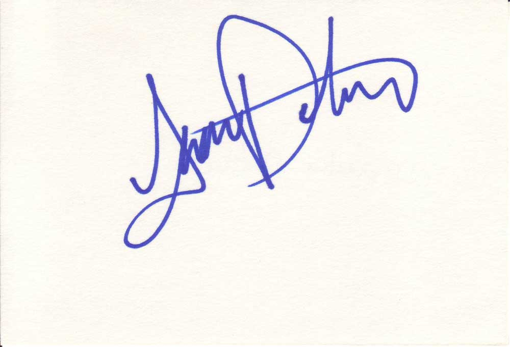 Amanda Detmer Autographed Index Card