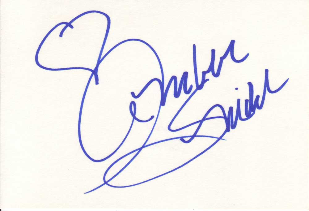 Amber Smith Autographed Index Card