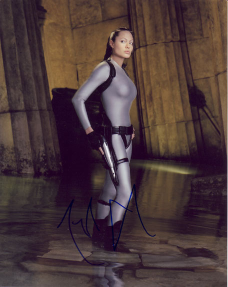 Angelina Jolie autographed photo for sale