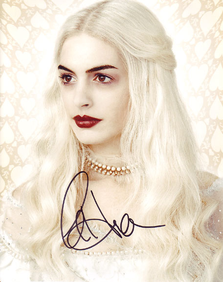 Anne Hathaway autographed photo for sale
