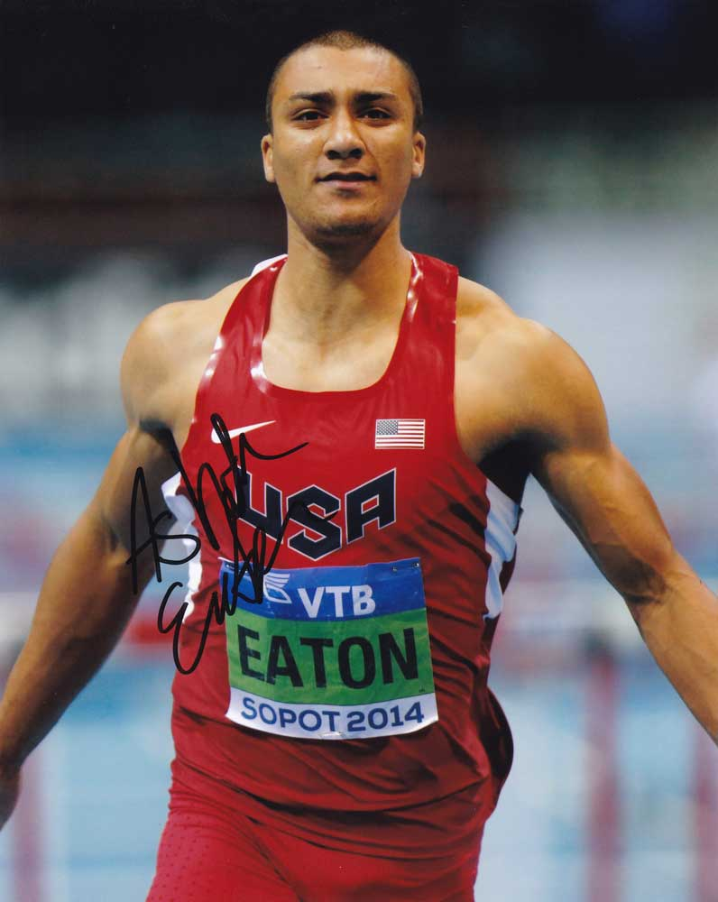 Ashton Eaton in-person autographed photo Team USA