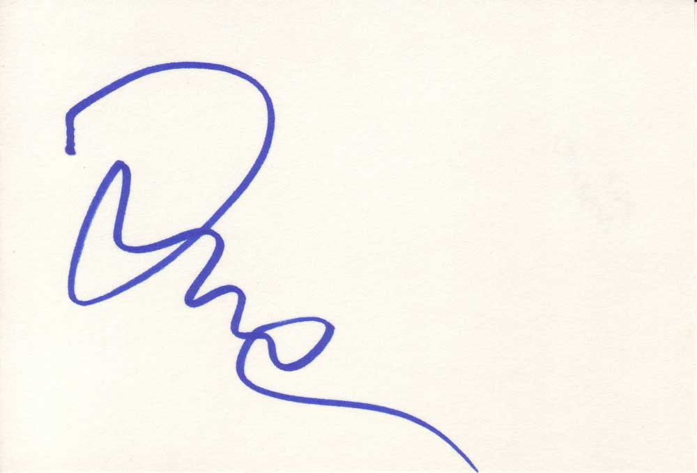 Asia Argento Autographed index Card