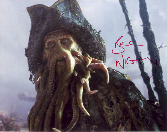 Bill Nighy  autographed photo for sale