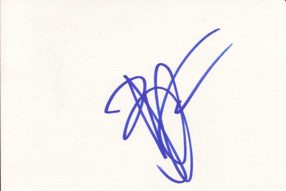 Brendan Fraser Autographed Index Card