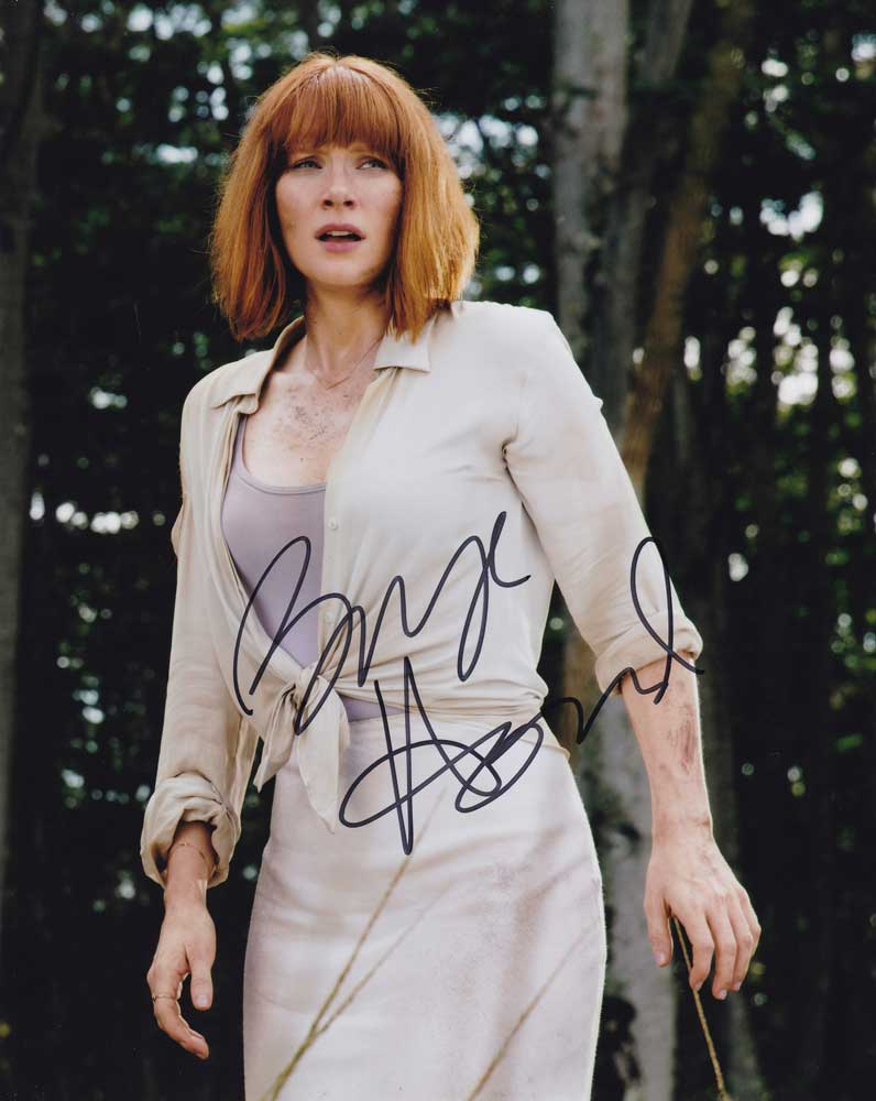 Bryce Dallas Howard in-person autographed photo Jurassic World