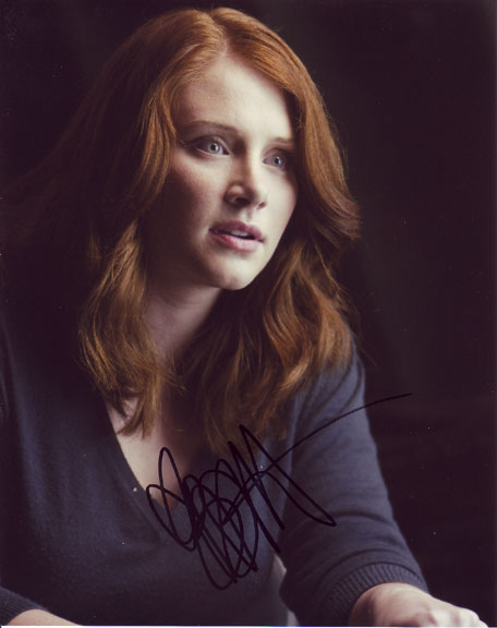 Bryce Dallas Howard autographed photo for sale