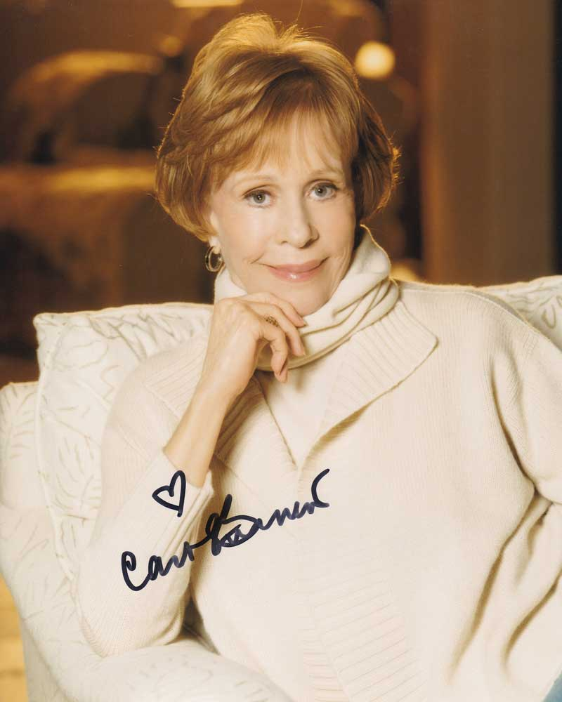 Carol Burnett In-person Autographed Photo