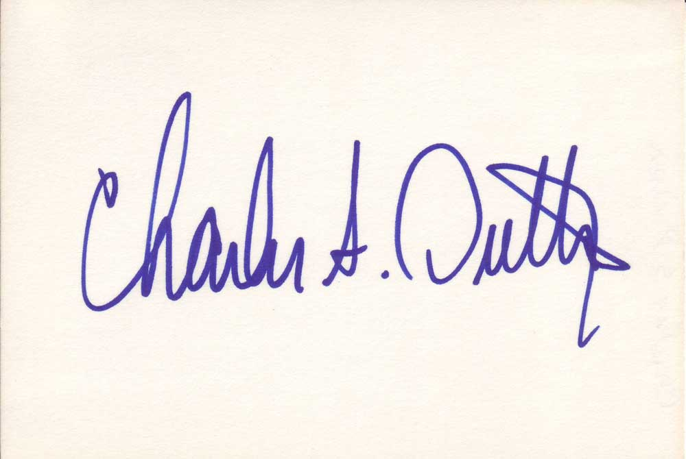 Charles S Dutton Autographed Index Card