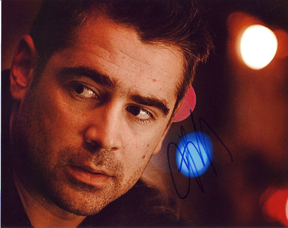 Colin Farrell autographed photo for sale