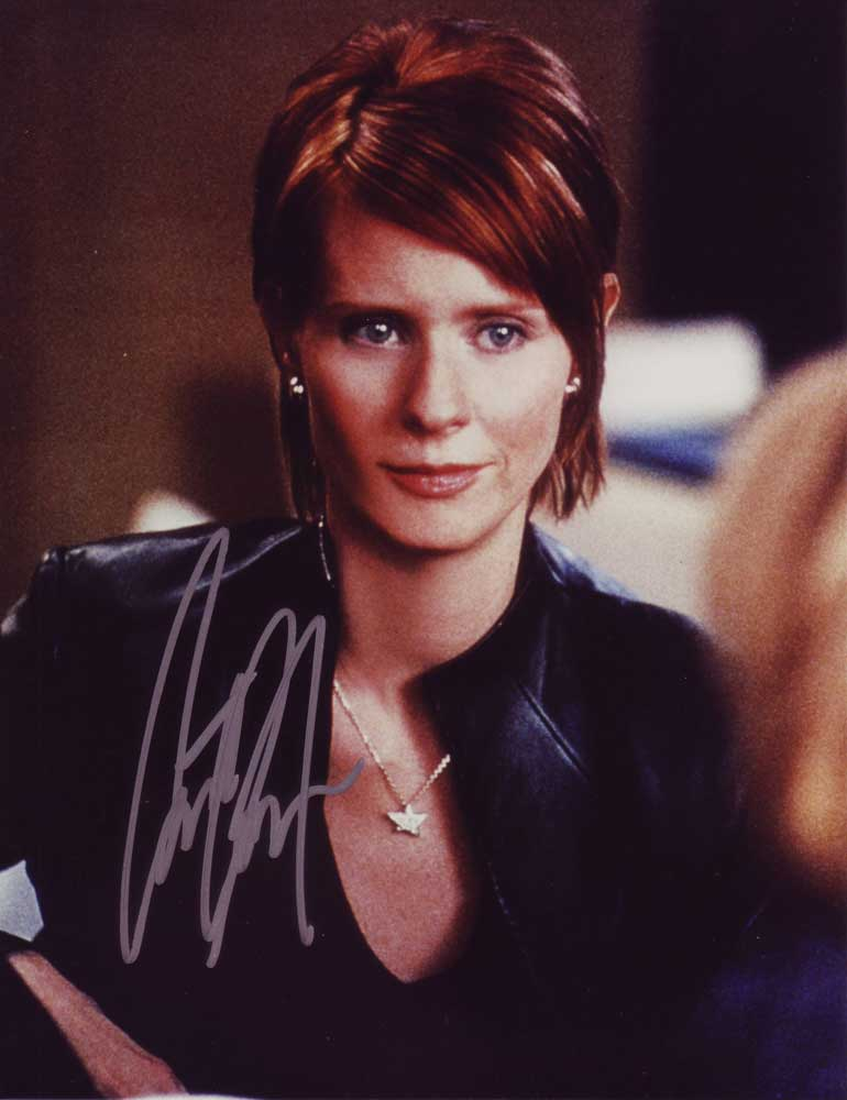 Cynthia Nixon in-person autographed photo