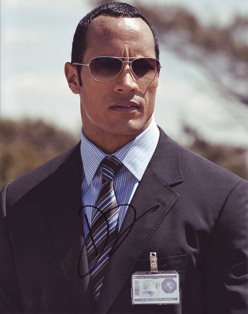 Dwayne The Rock Johnson in-person autographed photo