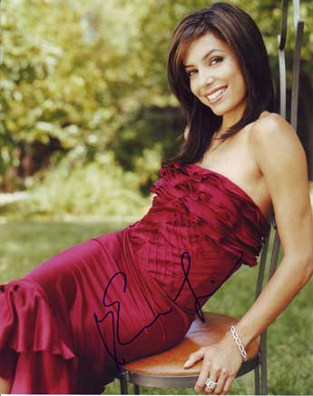 Eva Longoria autographed photo for sale