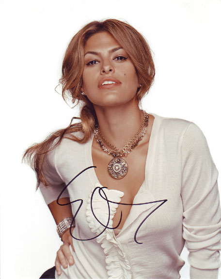 Eva Mendes autographed photo for sale