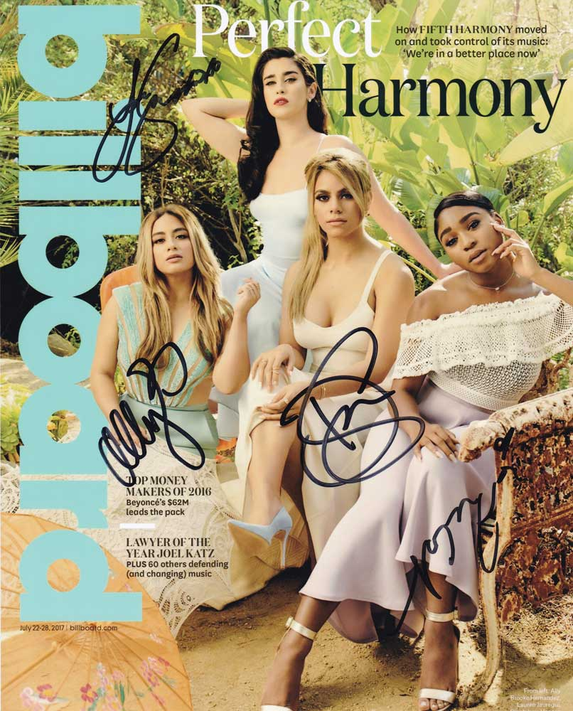 Fifth Harmony In-person Autographed Group Photo By All 4
