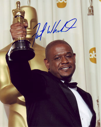 Forest Whitaker autographed photo for sale