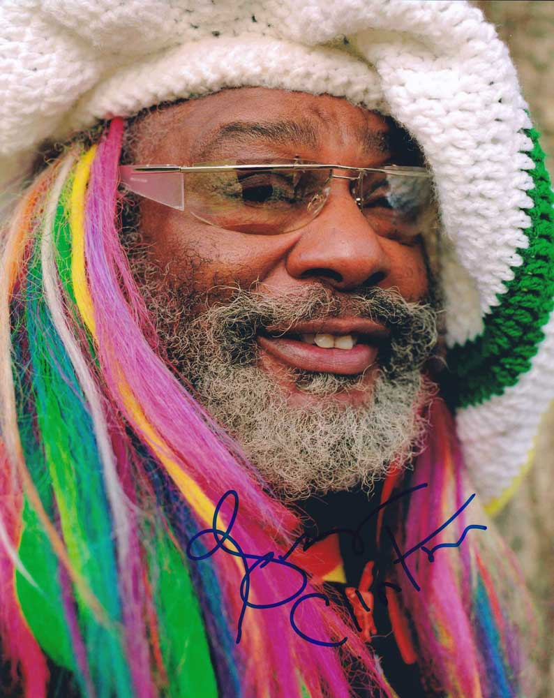 George Clinton in-person autographed photo