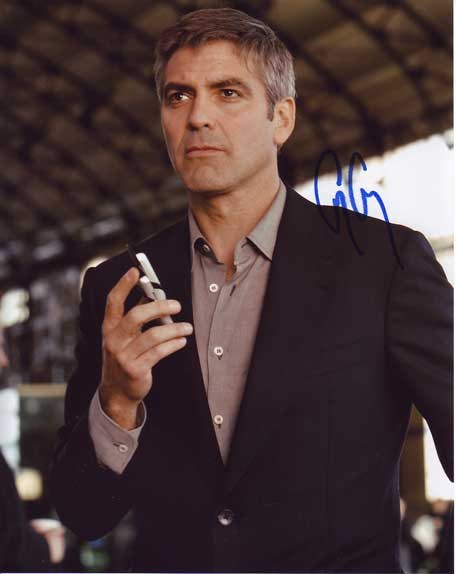 George Clooney autographed photo for sale