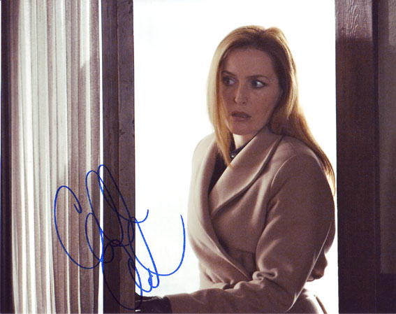 Gillian Anderson autographed photo for sale
