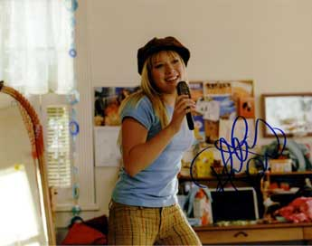 Hillary Duff autographed photo for sale
