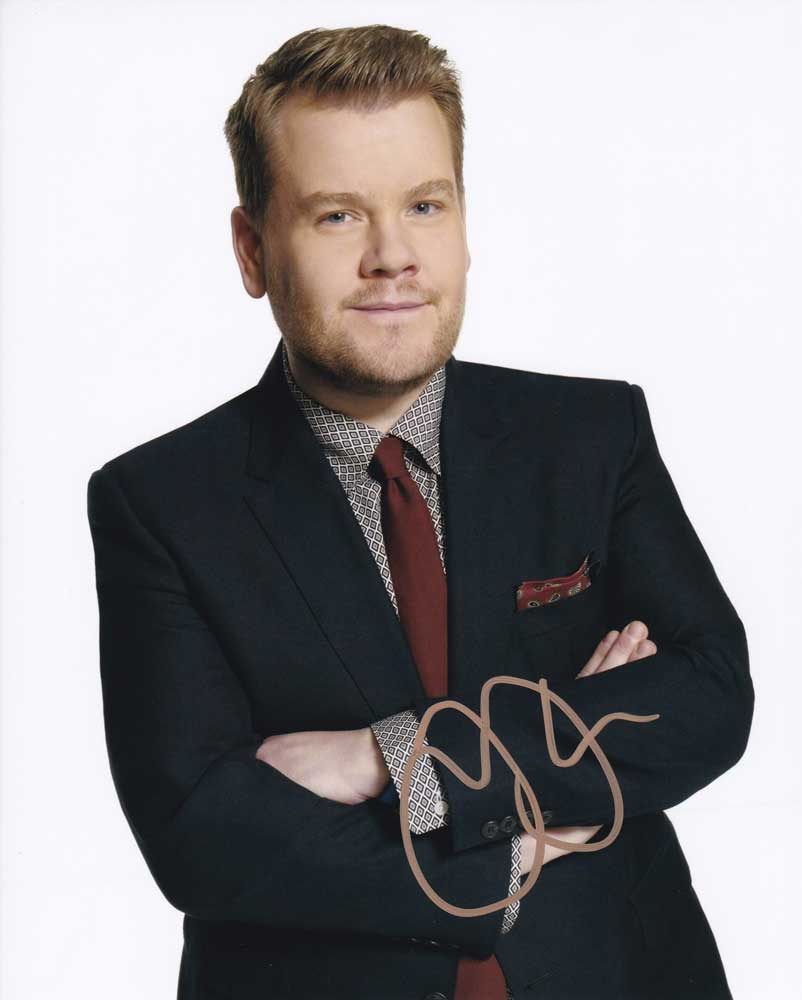 James Corden in-person autographed photo