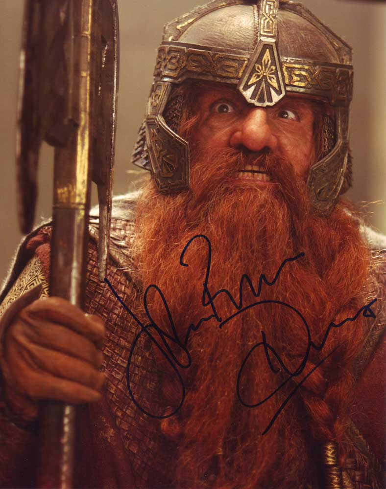 John Rhys-Davies in-person autographed photo