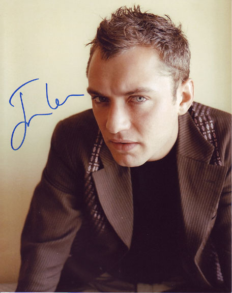 Jude Law autographed photo for sale