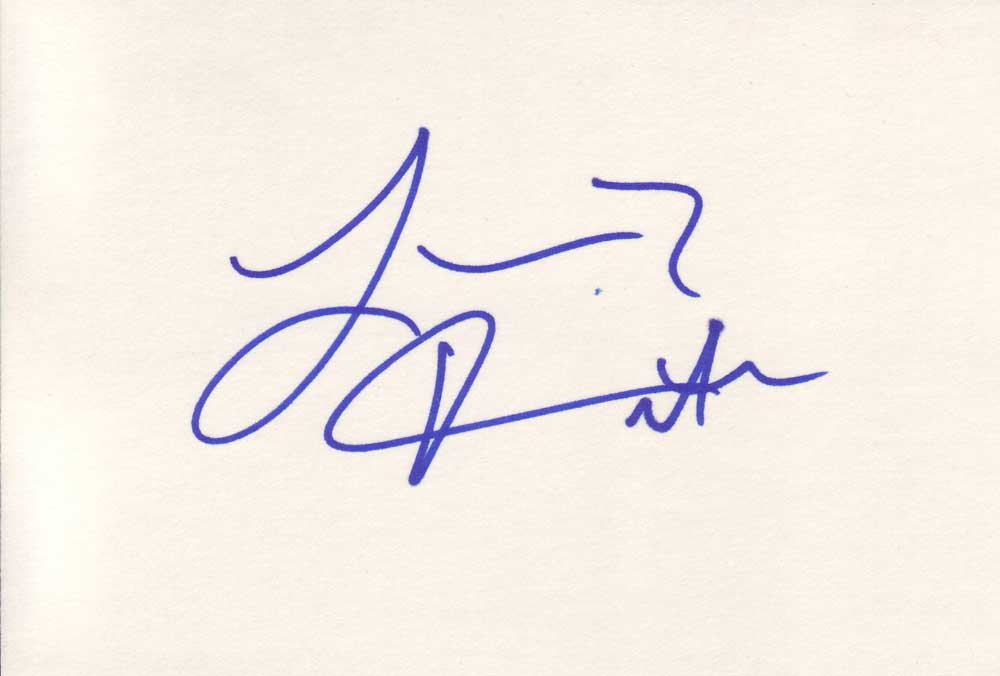 Larenz Tate Autographed Index Card