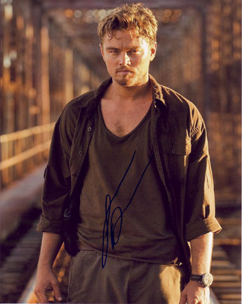 Leonardo DiCaprio autographed photo for sale