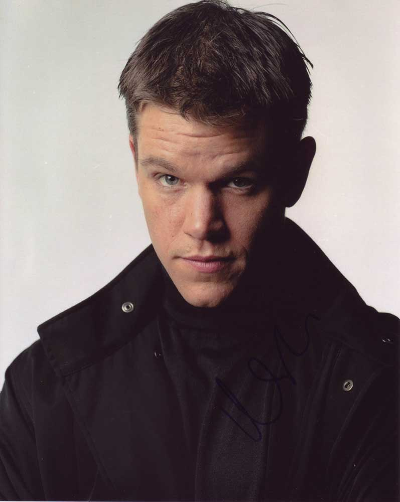 Matt Damon in-person autographed photo