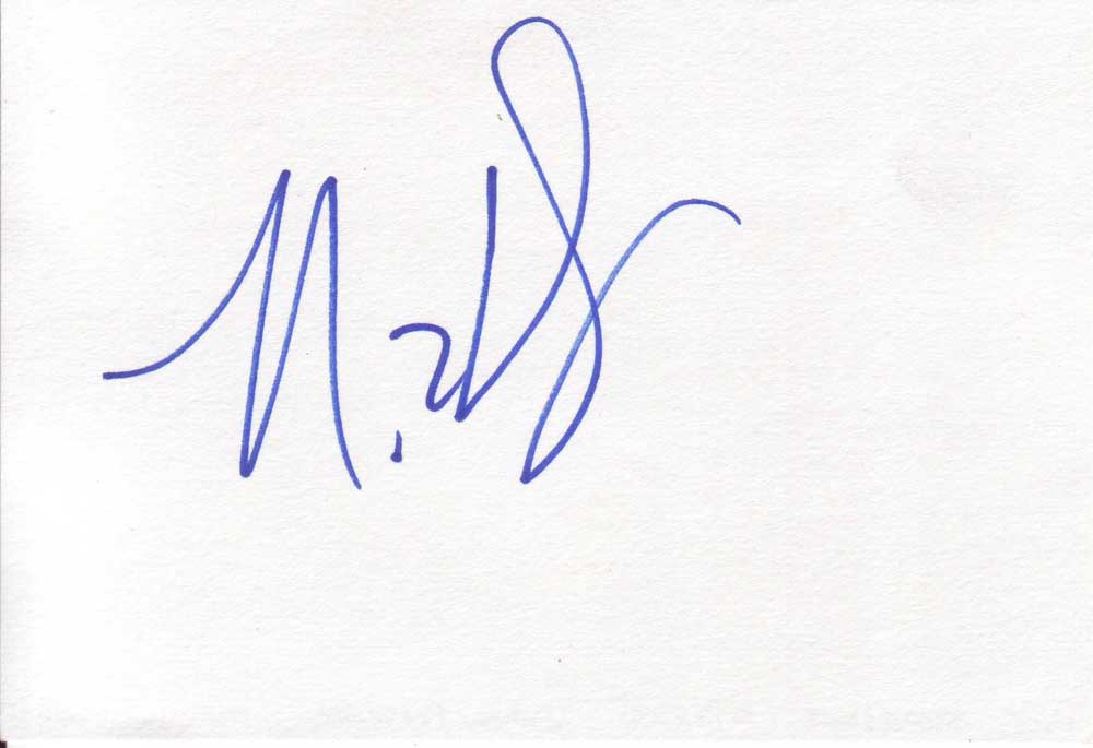 Nick Swardson Autographed Index Card