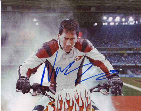 Nicolas Cage autographed photo for sale