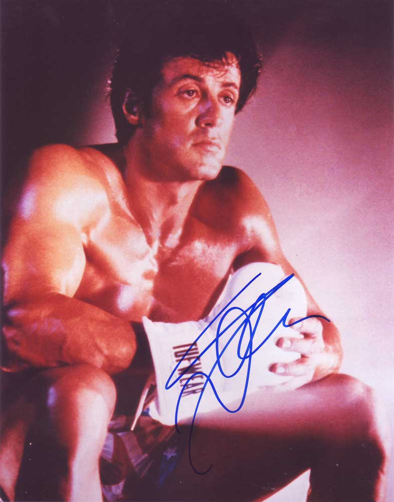 Sylvester Stallone in-person autographed photo