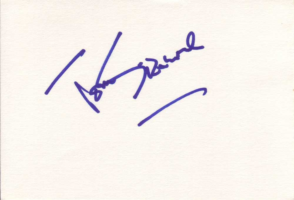 Tom Sizemore  Autographed Index Card