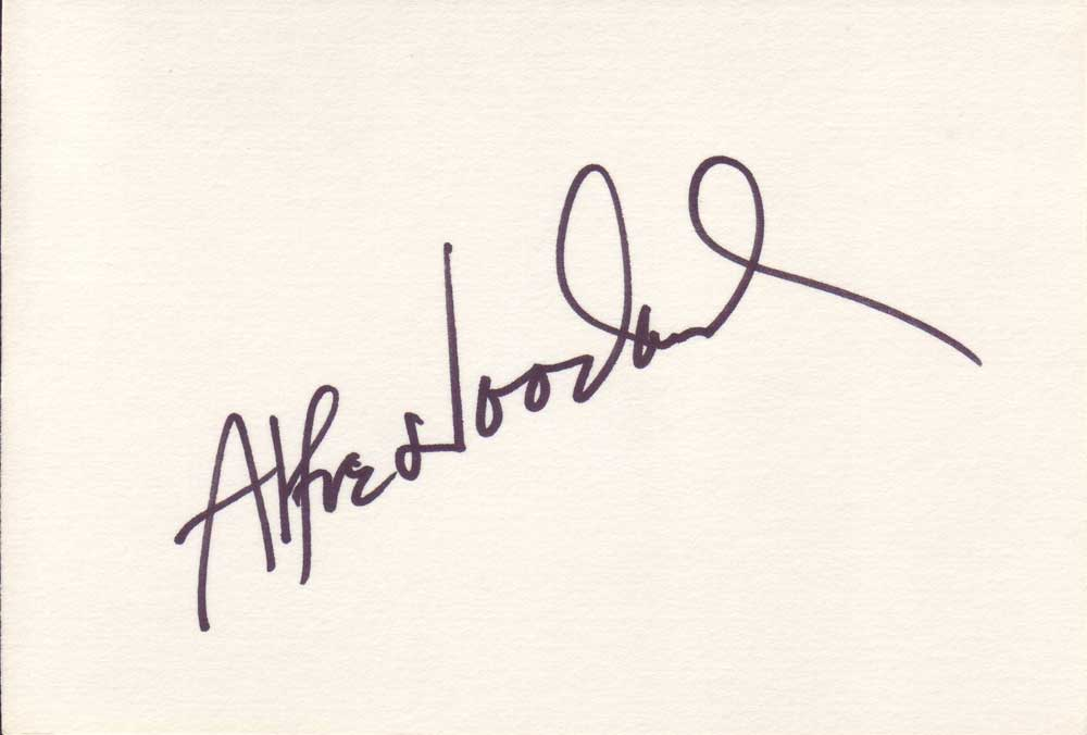 Alfre Woodard Autographed Index Card