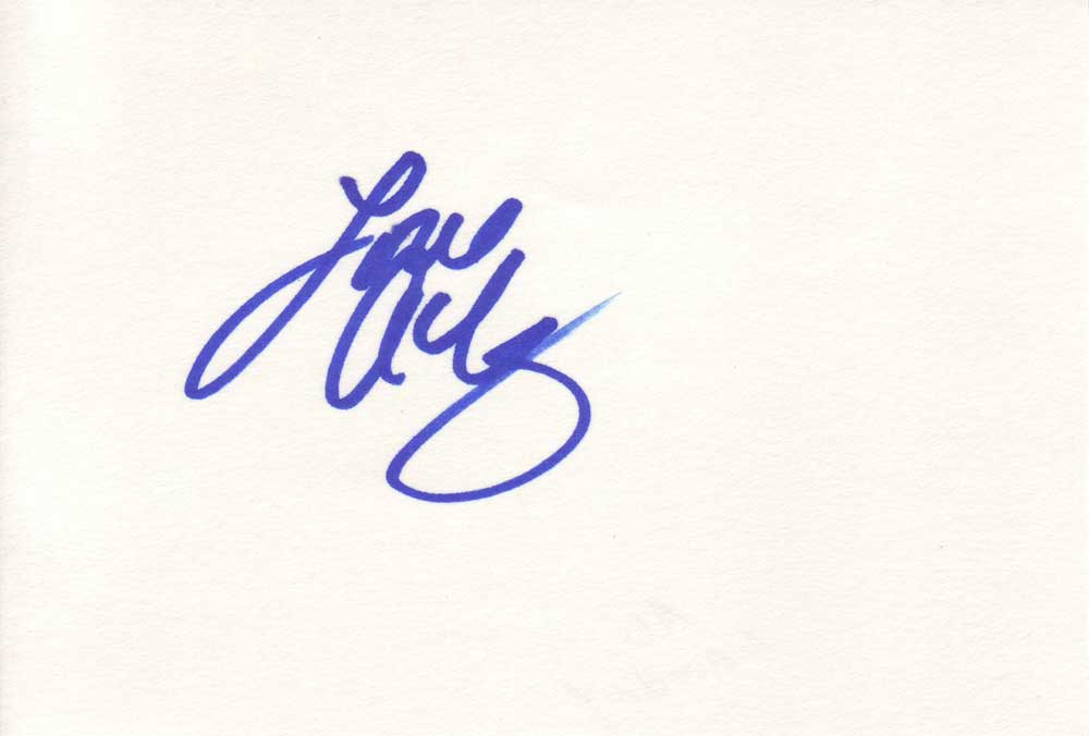 Ali Landry Autographed Index Card