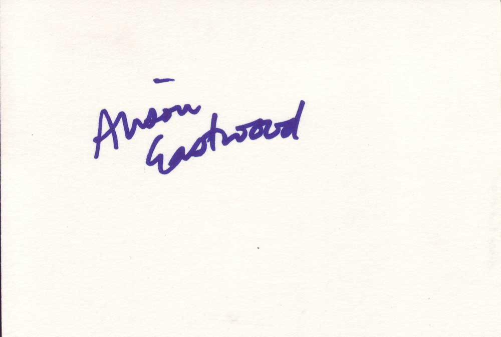 Alison Eastwood Autographed Index Card