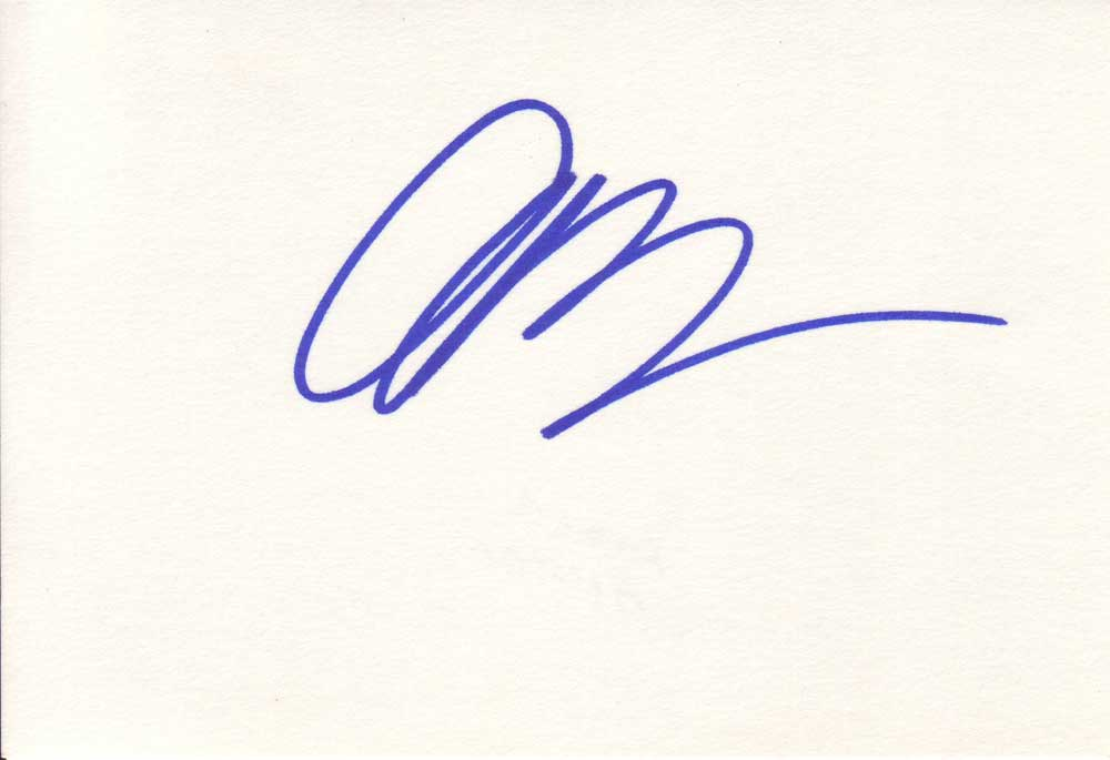 Amber Benson Autographed Index Card