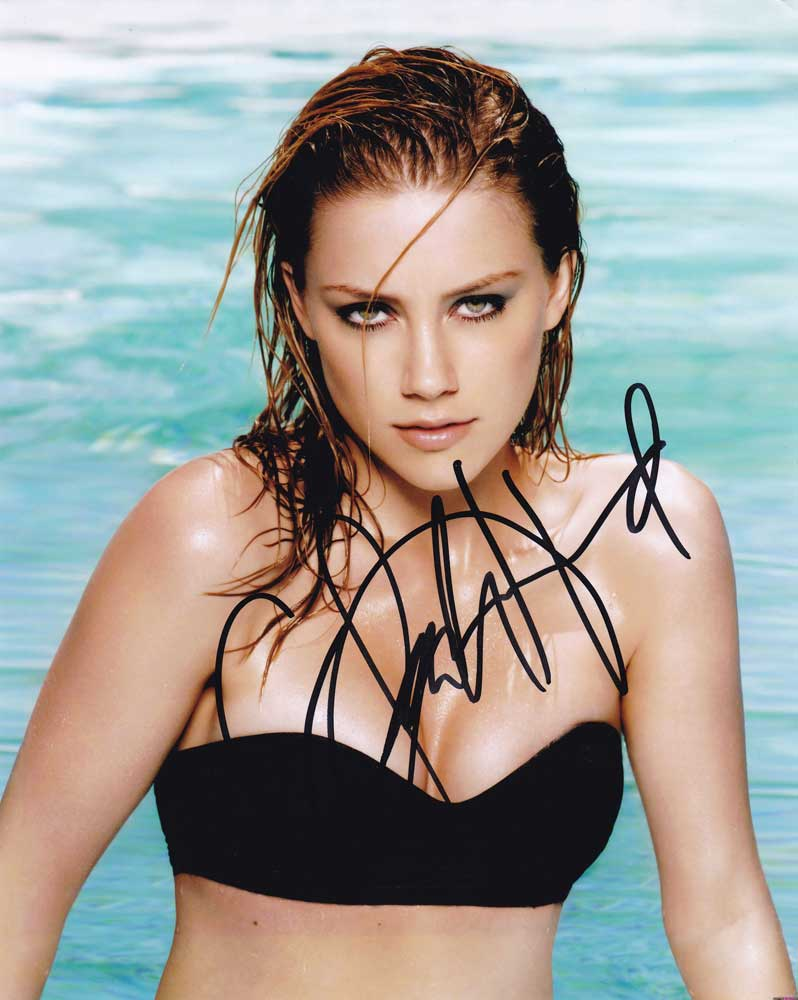Amber Heard in-person autographed photo