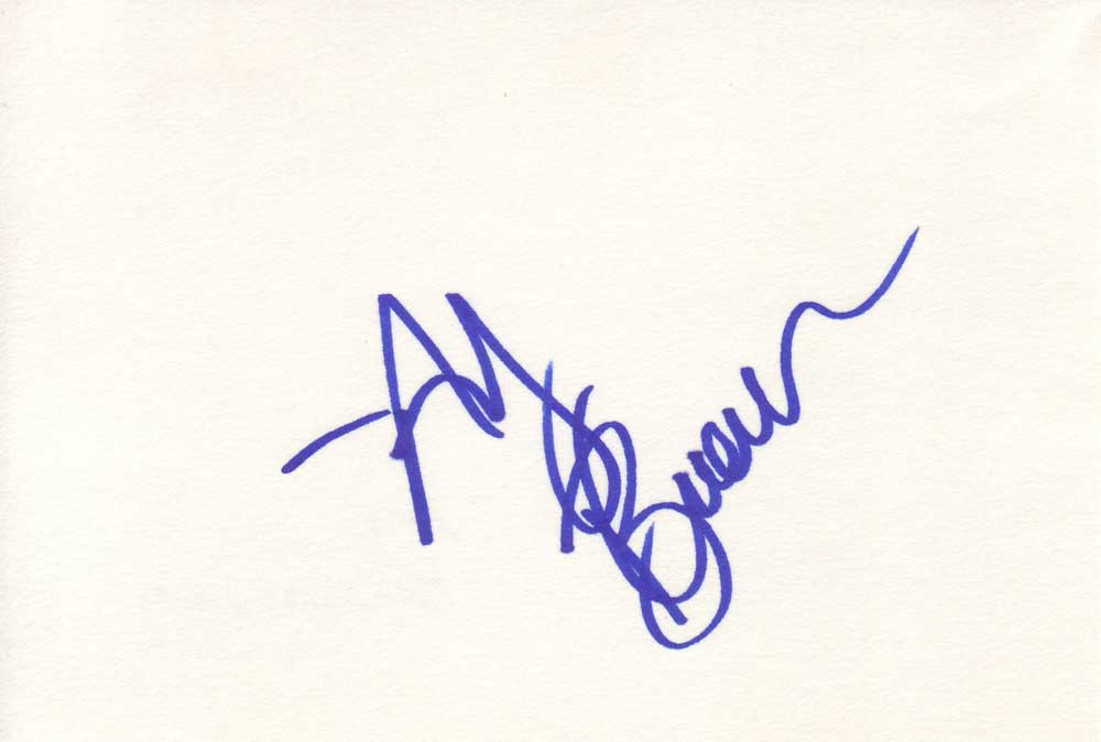 Amy Brenneman Autographed Index Card