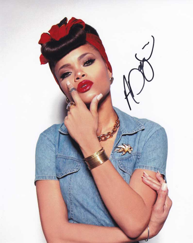 Andra Day In-person Autographed Photo